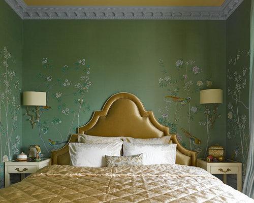 camera da letto etnica con pareti verdi - foto e idee per arredare - Pareti Verdi Camera Da Letto