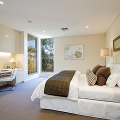 contemporary bedroom by Look Interior Design