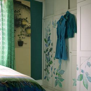 Bedroom - shabby-chic style bedroom idea in London