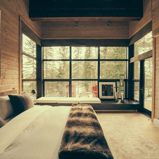 Inspiration for a country bedroom in Calgary.