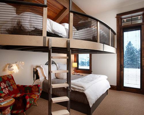 Schlafzimmer im Loft-Style mit Teppichboden - Ideen & Design HOUZZ