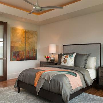 Mountain Contemporary Custom Home - Master Bedroom