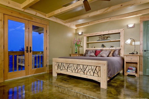 Rustic Bedroom by Fieldwork Architecture