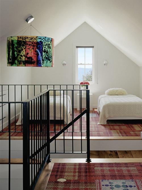 Inspiration For A Transitional Loft Style Carpeted Bedroom Remodel In Denver