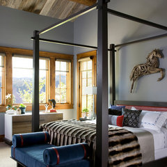 eclectic bedroom by Studio 80 Interior Design