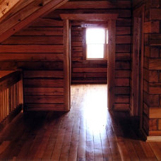 Traditional Bedroom by Schutt Log Homes