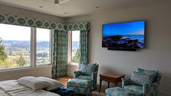 Mounted Bedroom TV with Soundbar