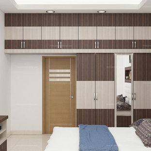 Asiatisk inredning av ett sovrum