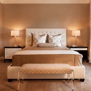 Inspiration For A Transitional Carpeted Bedroom Remodel In Denver With Beige Walls