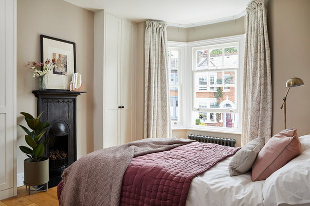Transitional Bedroom by Elena Creswell Design