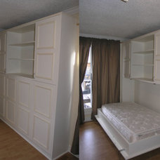 Traditional Bedroom murphy bed with cabinets