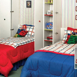 Murphy twin beds... Open and closed pictures and great for any kid's room! -