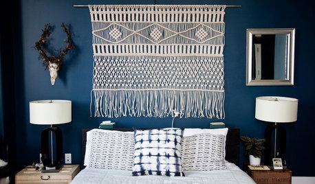 Hippie-Style im Schlafzimmer – mit einem Makramee-Wandbehang