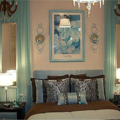 contemporary bedroom My first design----college apartment bedroom