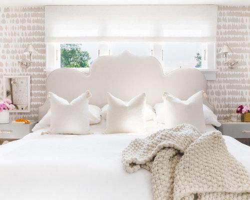 Interior Wallpaper Master Bedroom master bedroom wallpaper ideas houzz coastal photo in new york with multicolored walls