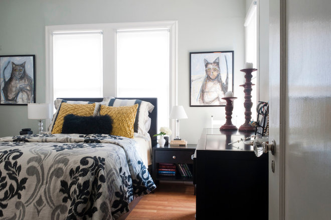 contemporary bedroom by Angela Flournoy