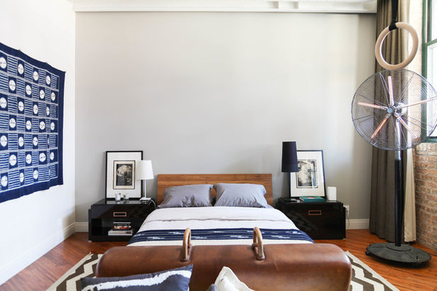 Industrial Bedroom by Rachel Loewen Photography