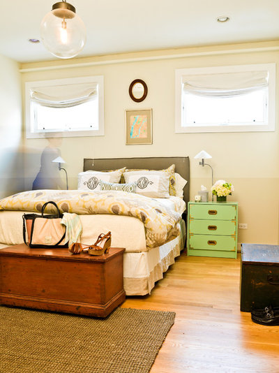 Contemporary Bedroom My Houzz: An Opposite-Tastes Couple Finds a Happy Medium