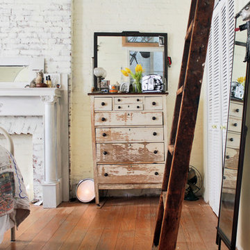 My Houzz: Antiques and curio items add interest to a Brooklyn brownstone