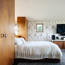 Transitional Bedroom by Andrew Snow Photography