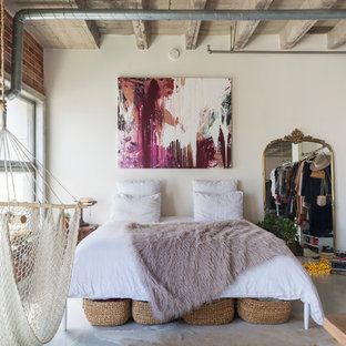 Inspiration for an industrial bedroom remodel in Los Angeles