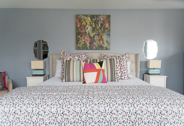 Transitional Bedroom by Hado Photo