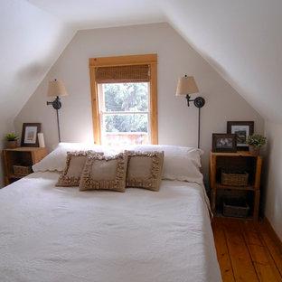 Immagine di una camera da letto shabby-chic style