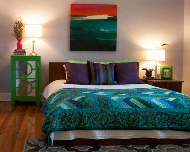 Tropical Bedroom by Adrienne DeRosa