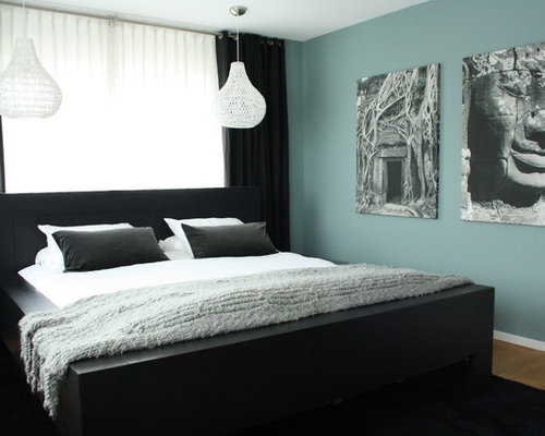 Blue Master Bedroom Design light blue master bedroom | houzz