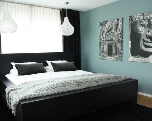 Houzz – Blue Paint Bedroom