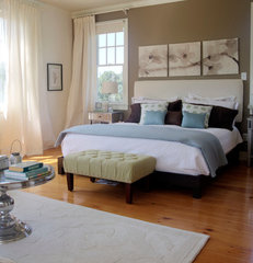 contemporary bedroom by Adrianna Beech