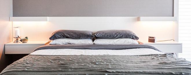 Transitional Bedroom by Becki Peckham