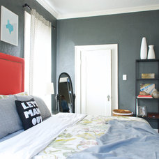 Transitional Bedroom by Hilary Walker
