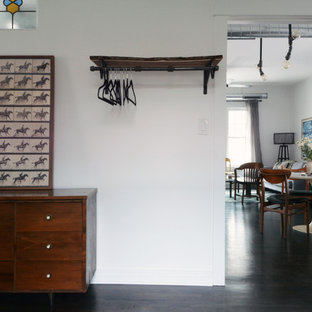 Inspiration for an industrial bedroom remodel in Chicago
