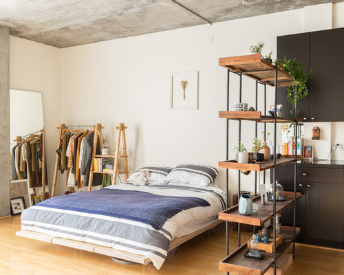 industrial schlafzimmer ideen design bilder houzz. Black Bedroom Furniture Sets. Home Design Ideas