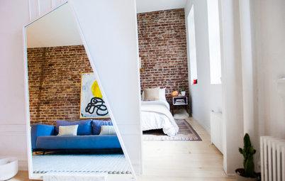 vorher nachher ein pariser k nstleratelier wird wohnzimmer und k che. Black Bedroom Furniture Sets. Home Design Ideas