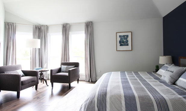 Contemporary Bedroom by Kristin Laing