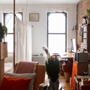 Bedroom - eclectic bedroom idea in New York