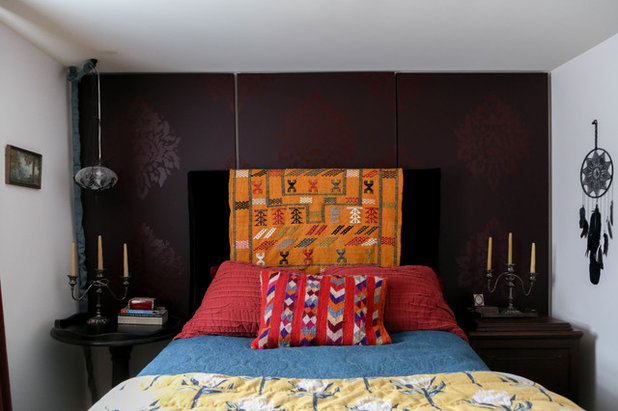 Eclectic Bedroom by Rachel Loewen Photography