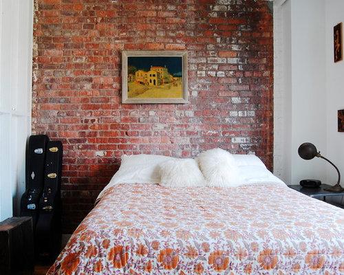brick wall bedroom photos