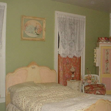 My painted bed and armoire