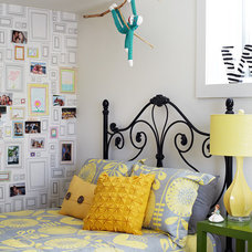 Transitional Bedroom by Lisa Petrole Photography