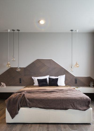 contemporary bedroom by hovanskaya olga