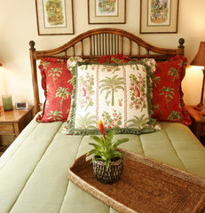 tropical bedroom by Darci Goodman Design