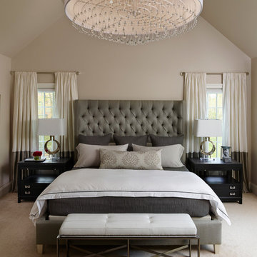 Napa Chic-Transitional Master Bedroom