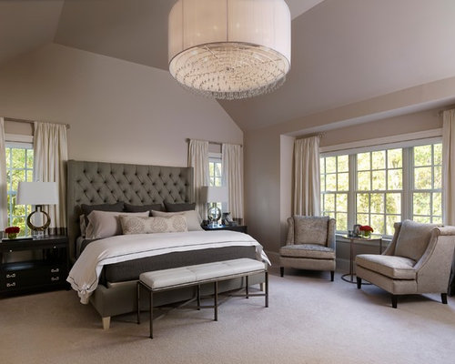 Transitional master bedroom houzz for Bedroom photos