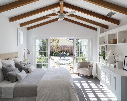 landhausstil schlafzimmer mit teppichboden ideen design houzz. Black Bedroom Furniture Sets. Home Design Ideas