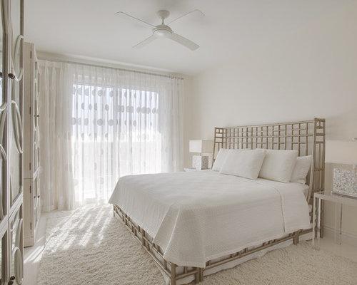 White and cream bedroom home design ideas pictures - Houzz dormitorios ...