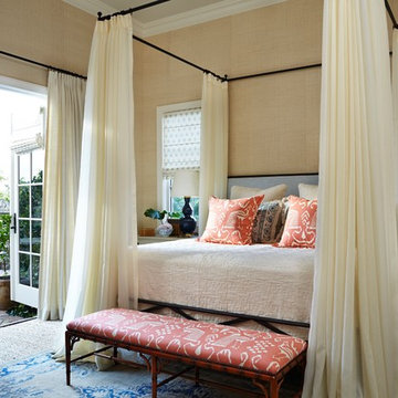 Naples Florida Vacation Home Bedroom overlooking courtyard with french doors