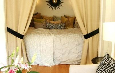Skapa en drömlik sovplats i ett litet hem